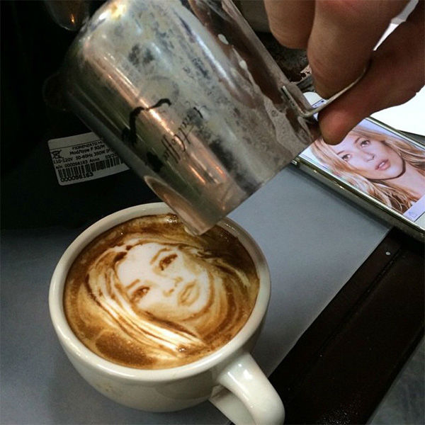 Image result for cappuccino foam art police