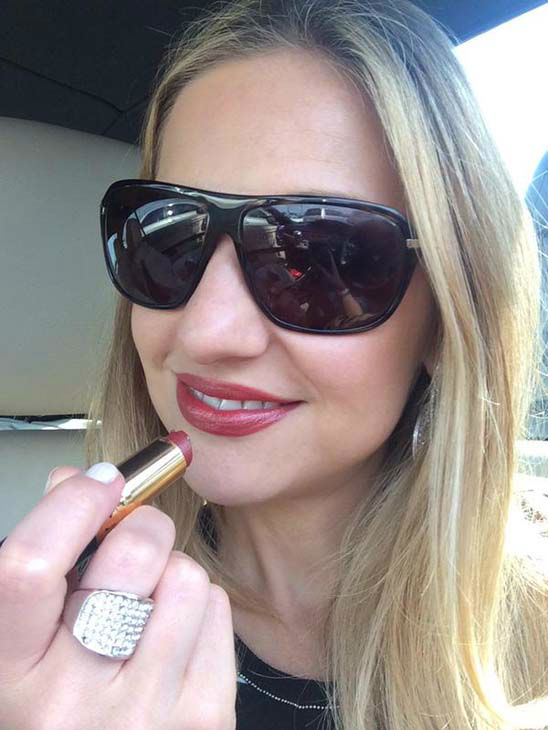 """<div class=""""meta image-caption""""><div class=""""origin-logo origin-image none""""><span>none</span></div><span class=""""caption-text"""">Katherine Whaley wearing bold lipstick for Sickle Cell Awareness (KTRK Photo)</span></div>"""