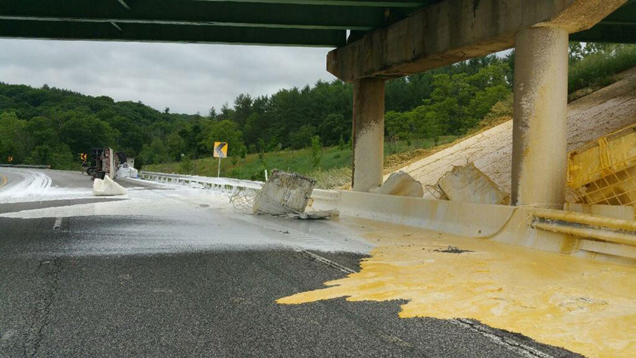 Interstate paint spill