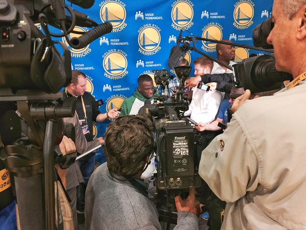 "<div class=""meta image-caption""><div class=""origin-logo origin-image none""><span>none</span></div><span class=""caption-text"">Getting to the NBA Playoff Finals early on Thursday, June 4, 2015 was necessary! (KGO-TV)</span></div>"