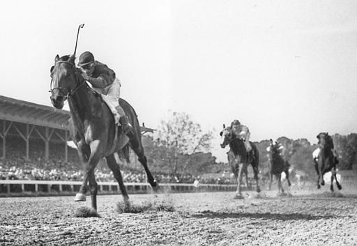 "<div class=""meta image-caption""><div class=""origin-logo origin-image none""><span>none</span></div><span class=""caption-text"">Citation, ridden by Eddie Arcado, races home an easy winner in the Belmont Stakes in Elmont, N.Y. to win the Triple Crown on June 12, 1948. (AP Photo)</span></div>"