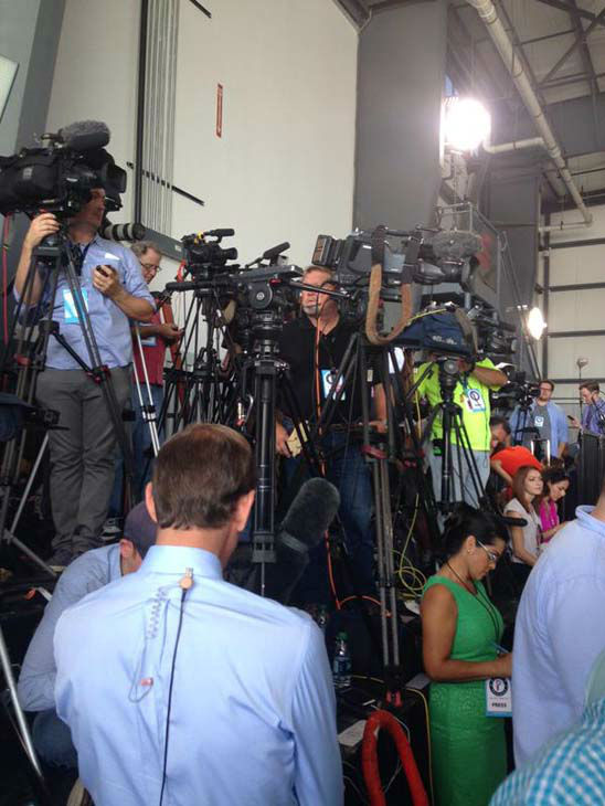 """<div class=""""meta image-caption""""><div class=""""origin-logo origin-image none""""><span>none</span></div><span class=""""caption-text"""">Media crews at former Governor Perry's presidential campaign announcement in Addison. (KTRK Photo)</span></div>"""