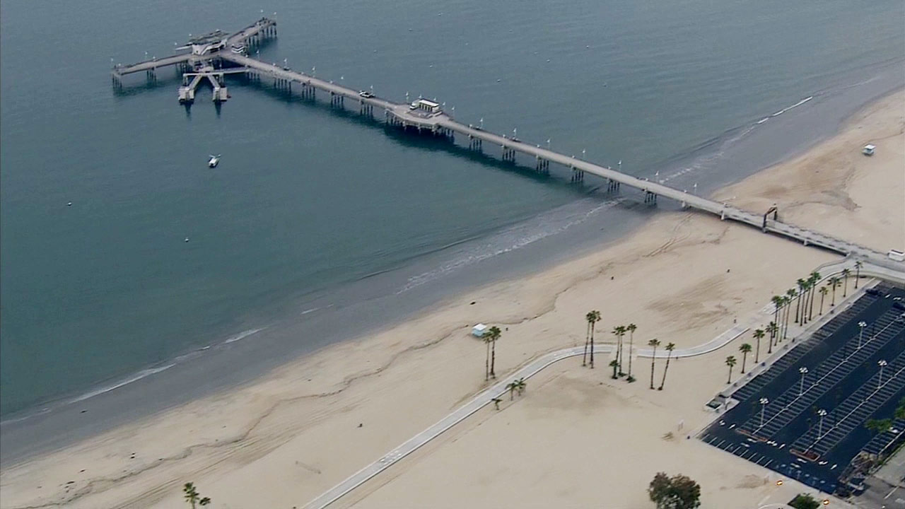 A four-mile stretch of Long Beach coastline between 1st and 72nd places reopened on Friday, June 5, 2015.