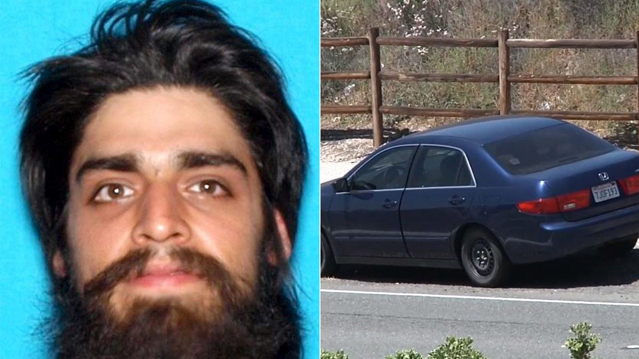 Jose David Flores' body was found in the trunk of this blue Honda Accord in Canyon Country on Sunday, May 31, 2015.