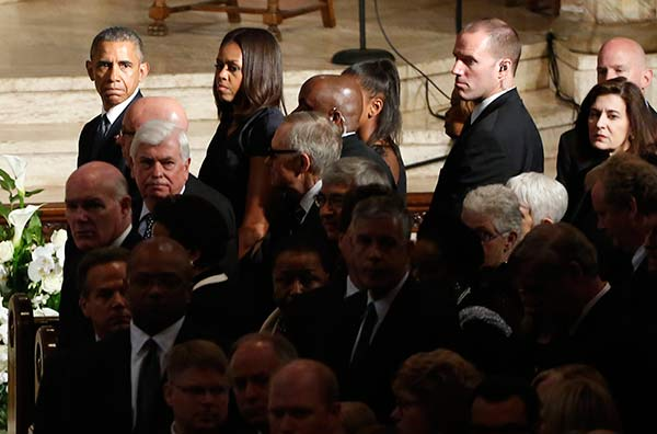 "<div class=""meta image-caption""><div class=""origin-logo origin-image ap""><span>AP</span></div><span class=""caption-text"">President Barack Obama, first lady Michelle Obama, and others attend funeral services for Beau Biden. (Yuri Gripas/Pool Photo via)</span></div>"