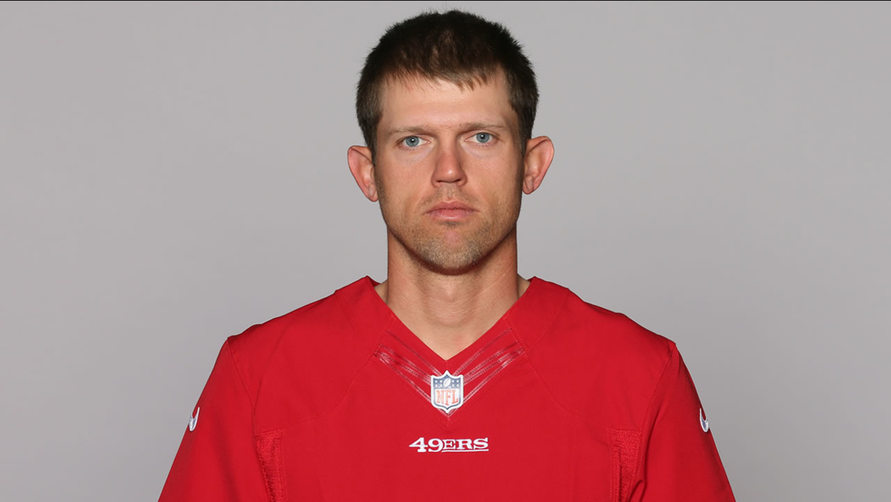 This is a 2015 photo of Andy Lee of the San Francisco 49ers NFL football team.