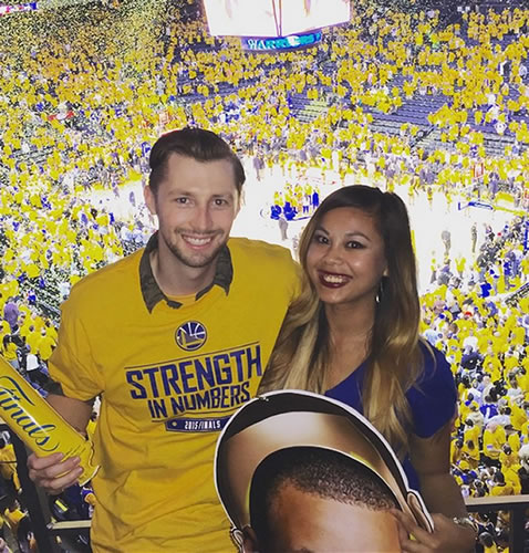 <div class='meta'><div class='origin-logo' data-origin='none'></div><span class='caption-text' data-credit='Tag your photos on Facebook, Twitter, Google Plus or Instagram using #DubsOn7.'>Instagram user @dear_jenn posted this pic of Oracle Arena in Oakland just before Game 2.</span></div>