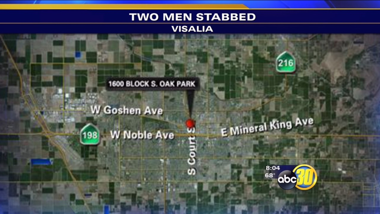 Two men stabbed after fight breaks out in Visalia