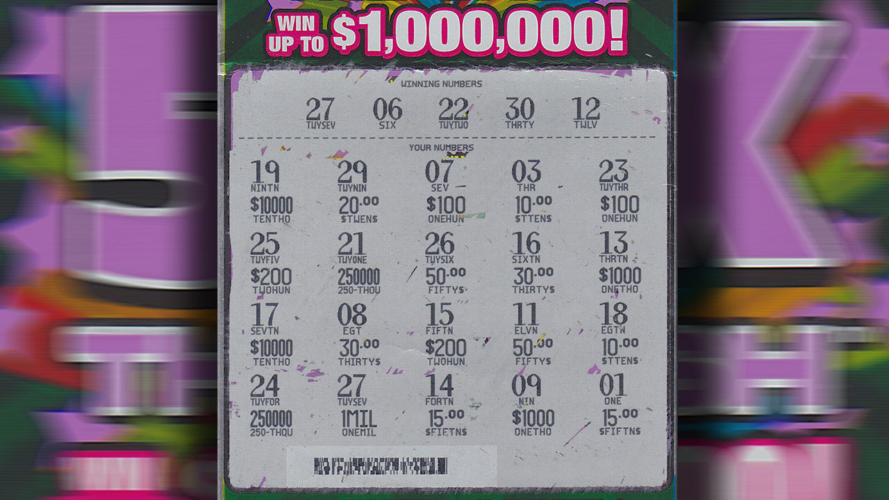 Winning lottery ticket