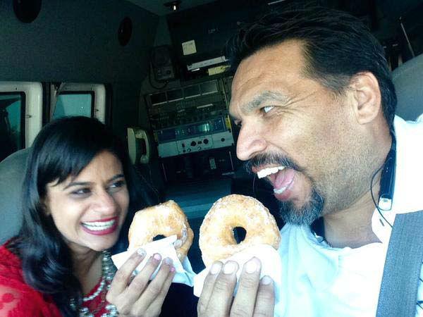 "<div class=""meta image-caption""><div class=""origin-logo origin-image none""><span>none</span></div><span class=""caption-text"">Pooja Lodhia and her photographer Jesus on National Donut Day (KTRK Photo)</span></div>"