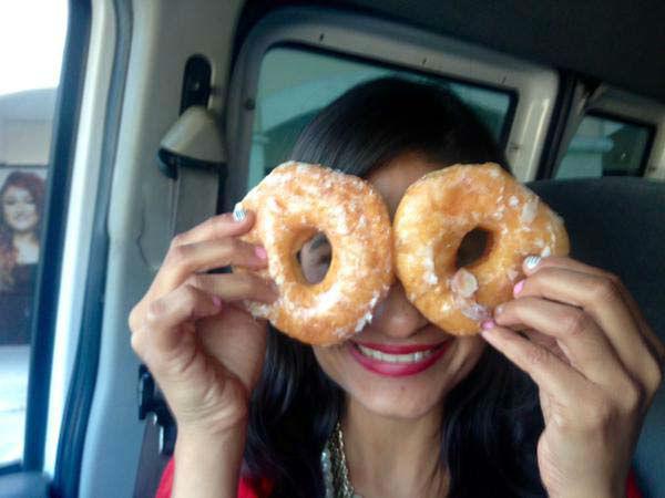 "<div class=""meta image-caption""><div class=""origin-logo origin-image none""><span>none</span></div><span class=""caption-text"">Pooja Lodhia on National Donut Day (KTRK Photo)</span></div>"