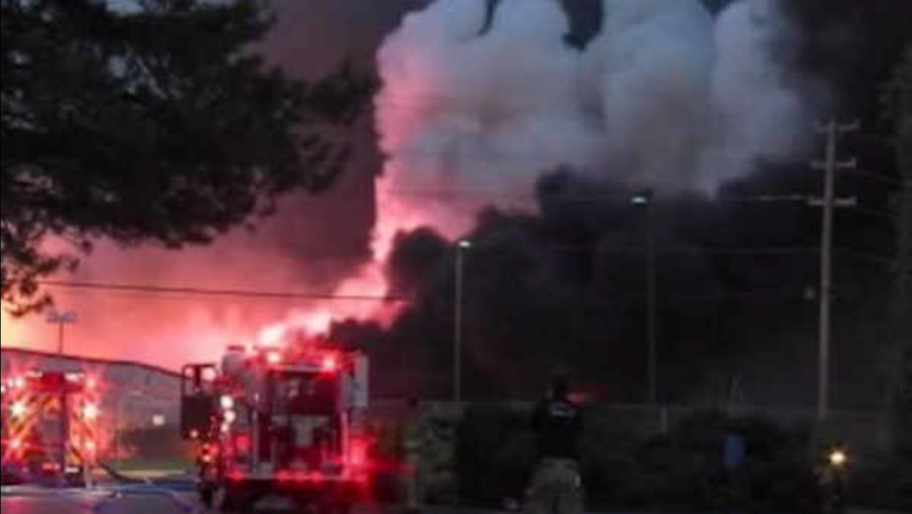 Massive fire at Pennsylvania chemical plant