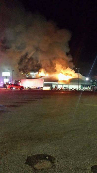 """<div class=""""meta image-caption""""><div class=""""origin-logo origin-image none""""><span>none</span></div><span class=""""caption-text"""">A fire ripped through Molly's Pub in Tomball last night (Kendra Mosley)</span></div>"""