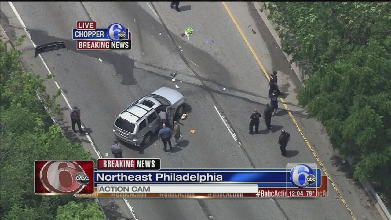 VIDEO: I-95 closed in NE Phila. after crash
