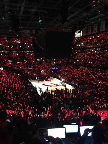 "<div class=""meta image-caption""><div class=""origin-logo origin-image none""><span>none</span></div><span class=""caption-text"">Quicken Loans Arena becomes a sea of red before  Game 3 of the NBA Finals between the Golden State Warriors and Cleveland Cavaliers in Cleveland, Ohio, June 9, 2015. (KGO-TV)</span></div>"