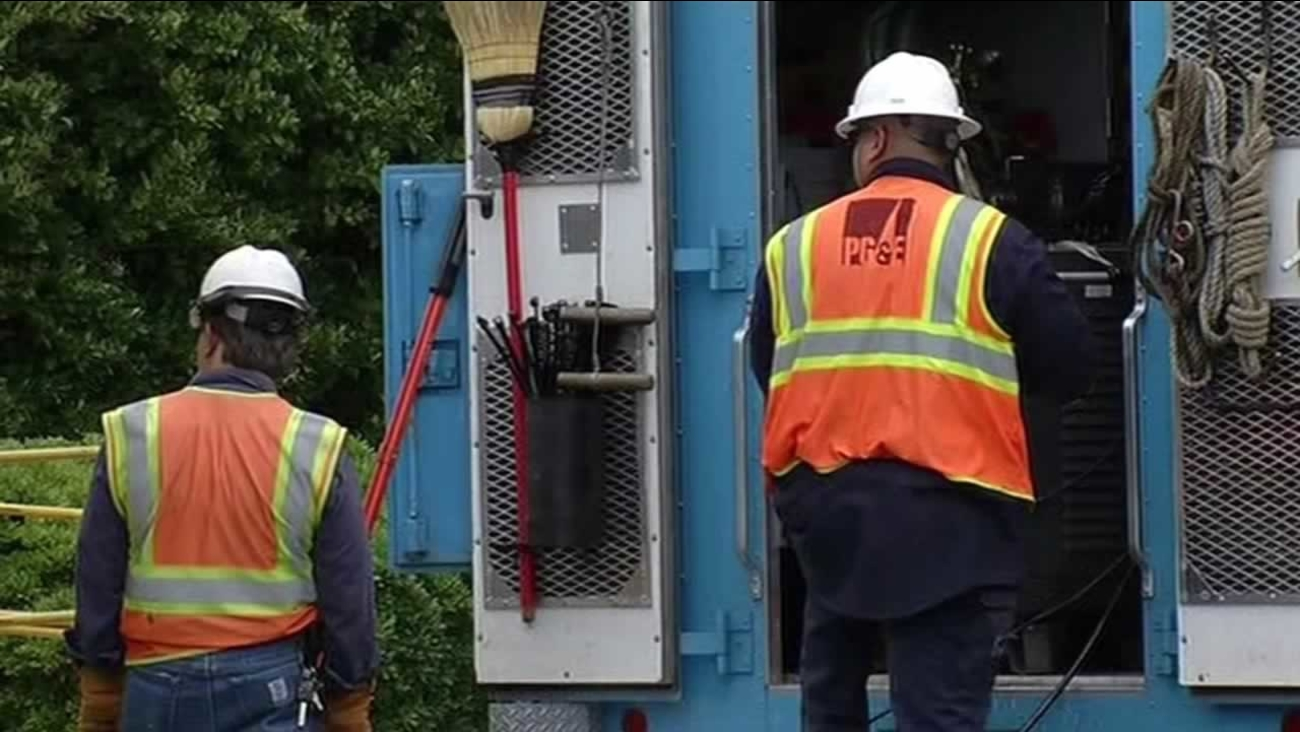 PG&E is still working to restore power to at least 70 customers in the East Bay affected by the outage on Tuesday, June 9, 2015.