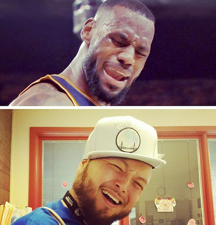 """<div class=""""meta image-caption""""><div class=""""origin-logo origin-image none""""><span>none</span></div><span class=""""caption-text"""">LeBron face perfected! Tag your photos on Facebook, Twitter, Google Plus or Instagram using #DubsOn7. (Photo submitted to KGO-TV by mrstallent5150/Instagram)</span></div>"""