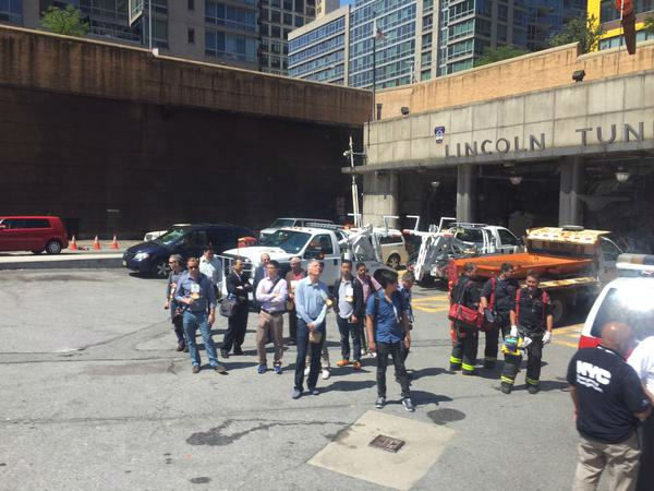 """<div class=""""meta image-caption""""><div class=""""origin-logo origin-image none""""><span>none</span></div><span class=""""caption-text"""">Outside the Lincoln Tunnel.  Photo from Dan Marcus via Twitter.</span></div>"""