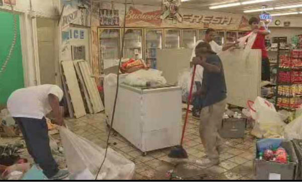 "<div class=""meta image-caption""><div class=""origin-logo origin-image none""><span>none</span></div><span class=""caption-text"">Several thieves inside a van slammed into a convenience store to nab the ATM and left behind a huge mess</span></div>"