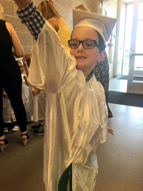 "<div class=""meta image-caption""><div class=""origin-logo origin-image none""><span>none</span></div><span class=""caption-text"">Morgan Zuch led 20 preschoolers who are battling cancer in the processional and handed out diplomas with her mother (WABC Photo)</span></div>"