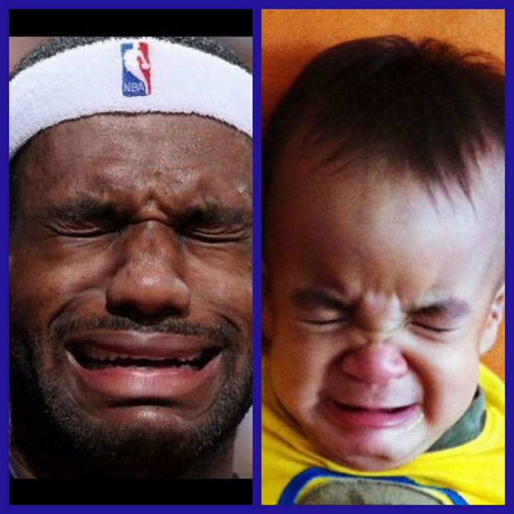"""<div class=""""meta image-caption""""><div class=""""origin-logo origin-image none""""><span>none</span></div><span class=""""caption-text"""">Little Landon's face is just as pained as LeBron's! Tag your photos on Facebook, Twitter, Google Plus or Instagram using #DubsOn7. (Photo submitted to KGO-TV by Malaine R./uReport)</span></div>"""