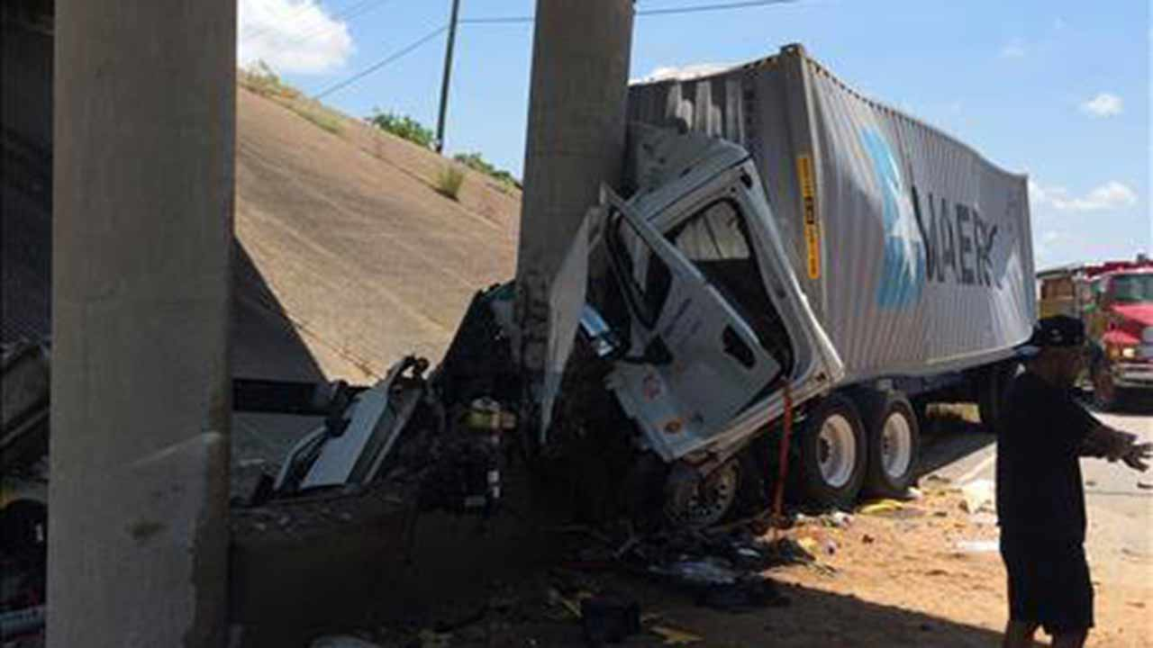 "<div class=""meta image-caption""><div class=""origin-logo origin-image none""><span>none</span></div><span class=""caption-text"">A big rig accident has all westbound lanes shut down on I-10 at SH 36 (TXDOT/Photo)</span></div>"