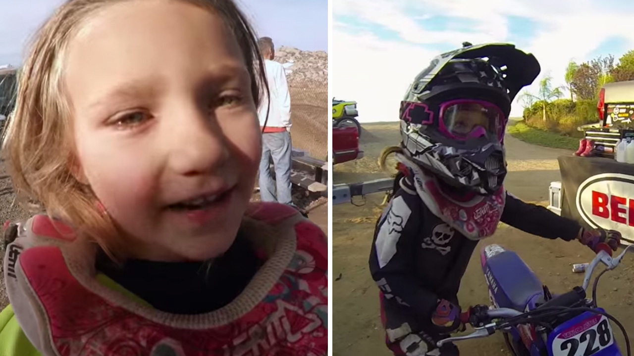 Video Five Year Old Taylor Joyce Is A Dirt Bike Superstar Abc7 San Francisco