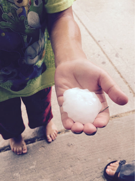 """<div class=""""meta image-caption""""><div class=""""origin-logo origin-image none""""><span>none</span></div><span class=""""caption-text"""">Hail in Minooka, Ind. Shared by Ron Caves.</span></div>"""