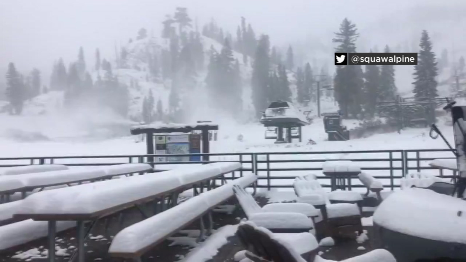 Lake Tahoe Squaw Valley Sees Snowy Conditions As Temperatures Drop In Bay Area Abc7 San Francisco