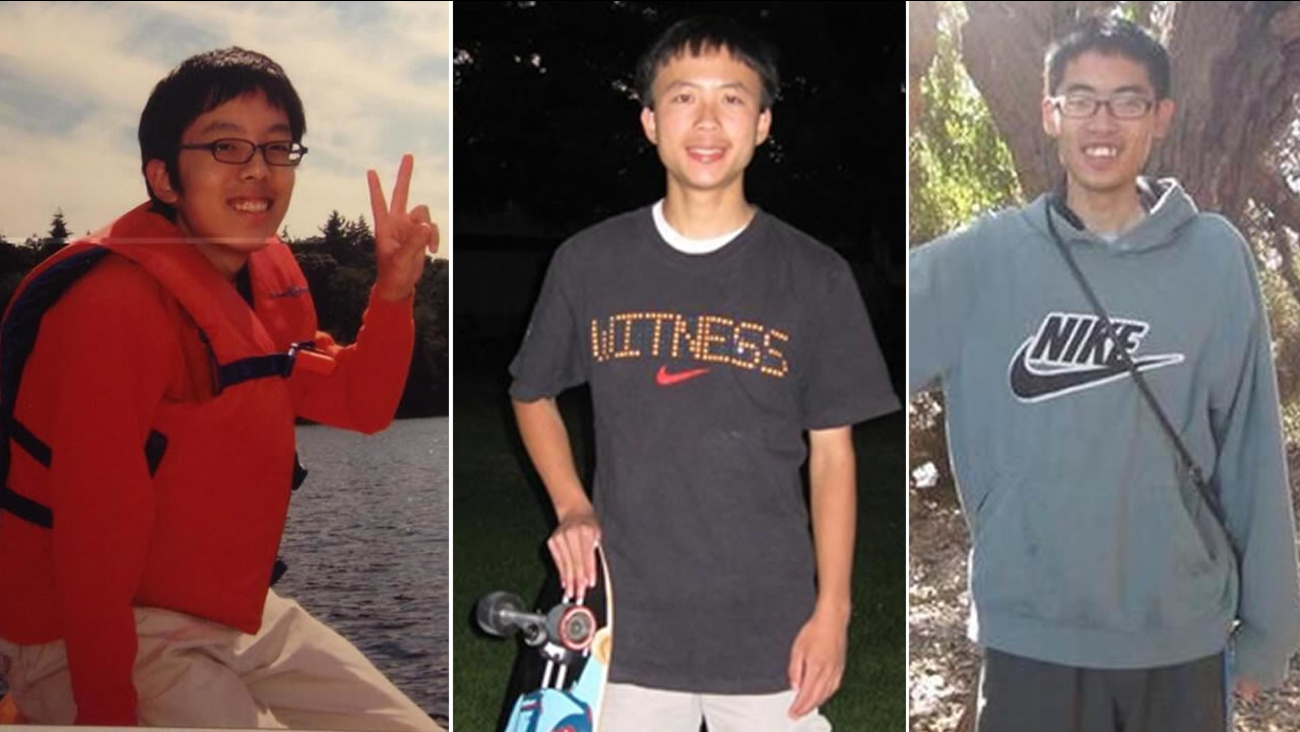 Isla Vista stabbing victims from left to right: 20-year-old David Wang of Fremont, 19-year-old George Chen of San Jose, 20-year-old James Cheng-Yuan Hong of San Jose.