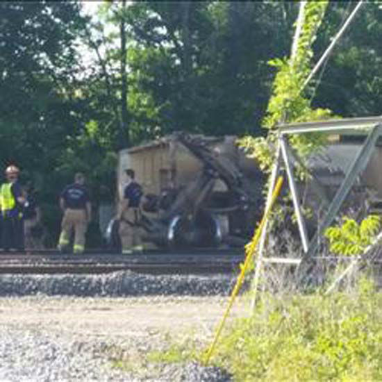 """<div class=""""meta image-caption""""><div class=""""origin-logo origin-image none""""><span>none</span></div><span class=""""caption-text"""">A train derailed today west of downtown over the Old Katy Road; no one was hurt (KTRK Photo/ KTRK/Eyewitness photo)</span></div>"""