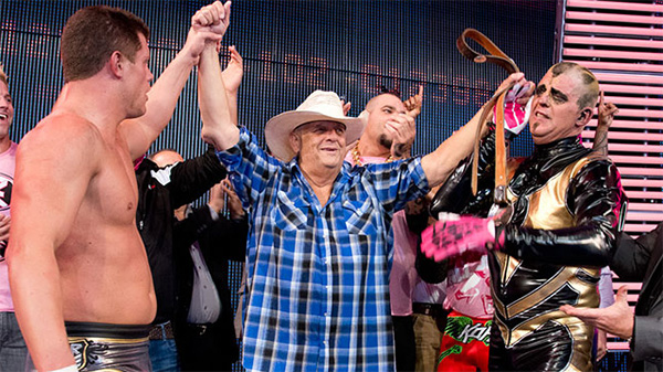 <div class='meta'><div class='origin-logo' data-origin='none'></div><span class='caption-text' data-credit='WWE'>WWE Hall of Famer Virgil Runnels, aka 'The American Dream' Dusty Rhodes, passed away on Thursday, June 11, 2015. He was 69.</span></div>
