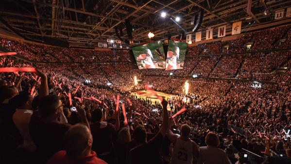 "<div class=""meta image-caption""><div class=""origin-logo origin-image none""><span>none</span></div><span class=""caption-text"">The Warriors and the Cavaliers on the court just before tip-off Thursday, June 11, 2015. (KGO-TV)</span></div>"