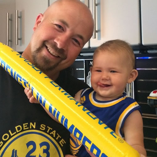 <div class='meta'><div class='origin-logo' data-origin='none'></div><span class='caption-text' data-credit='Photo submitted to KGO-TV by jeneemleonard/Instagram'>One of the Warriors' littlest fans has his gear ready to go! Tag your photos on Facebook, Twitter, Google Plus or Instagram using #DubsOn7.</span></div>