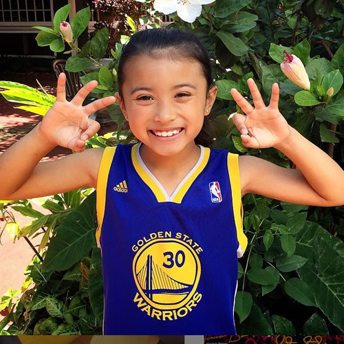 <div class='meta'><div class='origin-logo' data-origin='none'></div><span class='caption-text' data-credit='Photo submitted to KGO-TV by sofli96/Instagram'>She's cheering on the Warriors all the way from Hawaii! Tag your photos on Facebook, Twitter, Google Plus or Instagram using #DubsOn7.</span></div>