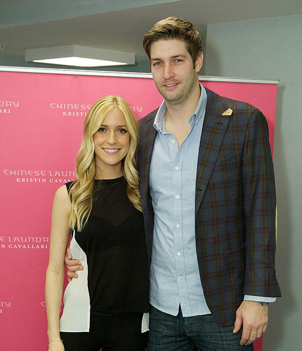 "<div class=""meta image-caption""><div class=""origin-logo origin-image none""><span>none</span></div><span class=""caption-text"">Kristin Cavallari and Jay Cutler attend Kristin Cavallari Celebrates The Launch Of Chinese Laundry By Kristin Cavallari on February 9, 2013 in Lombard, Ill. (Getty)</span></div>"