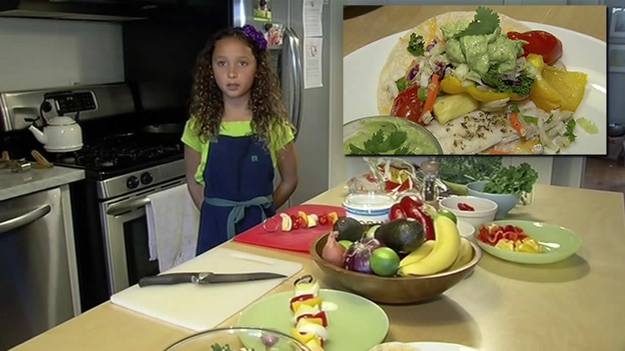 San Francisco resident Aria Pelaez, 9, was the White House Healthy Food Challenge winner for her California Rainbow Taco with Mic-Kale Obama Slaw and Barack-amole.