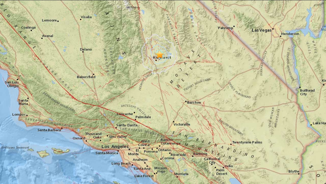 A 3.5-magnitude earthquake struck Ridgecrest in Kern County Sunday, June 14, 2015, according to the U.S. Geological Survey.