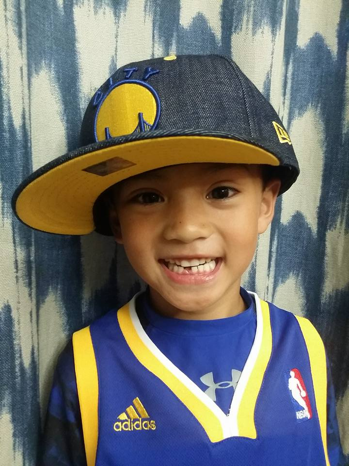<div class='meta'><div class='origin-logo' data-origin='none'></div><span class='caption-text' data-credit='Photo submitted to KGO-TV by Caroline Nakamura/Facebook'>This lucky hat can only mean a Warriors win! Tag your photos on Facebook, Twitter, Google Plus or Instagram using #DubsOn7.</span></div>