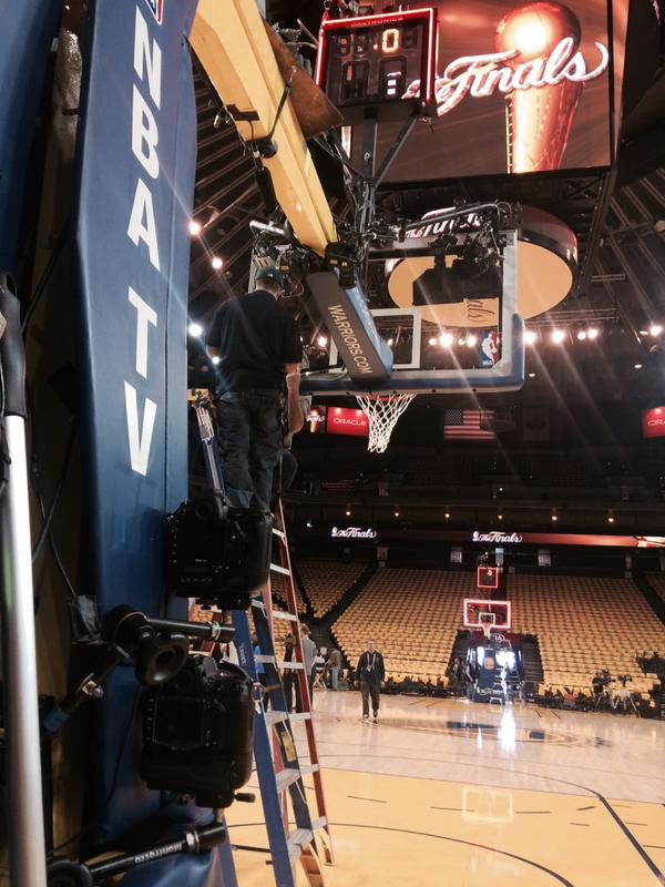 "<div class=""meta image-caption""><div class=""origin-logo origin-image none""><span>none</span></div><span class=""caption-text"">Crews at Oracle Arena strap cameras near the basketball hoops to get good closeup shots of slam dunks on Sunday, June 14, 2015. (KGO-TV)</span></div>"