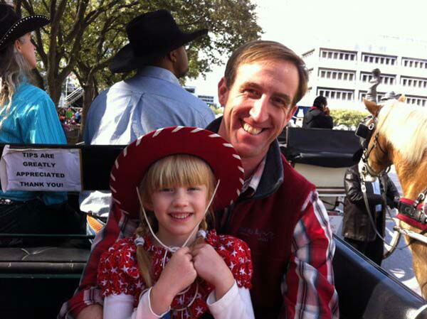 "<div class=""meta image-caption""><div class=""origin-logo origin-image none""><span>none</span></div><span class=""caption-text"">Ted Oberg and his daughter riding on the ABC-13 float in a parade (KTRK Photo)</span></div>"