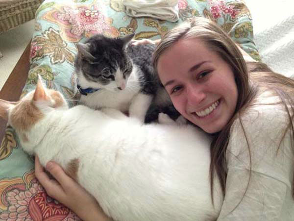 "<div class=""meta image-caption""><div class=""origin-logo origin-image none""><span>none</span></div><span class=""caption-text"">Tom Koch's daughter Emily with their cats (KTRK Photo)</span></div>"
