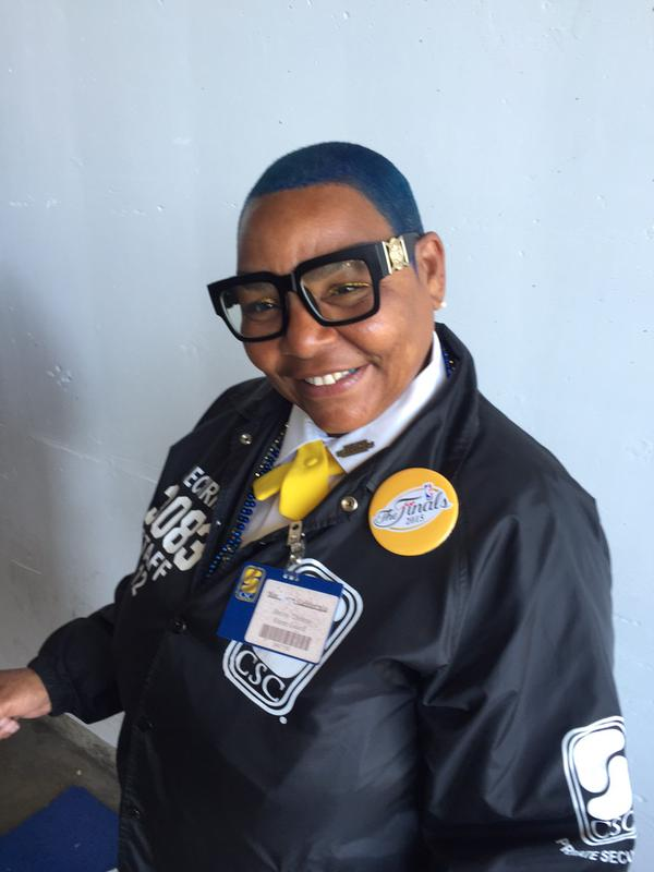 "<div class=""meta image-caption""><div class=""origin-logo origin-image none""><span>none</span></div><span class=""caption-text"">Oracle Arena's Thelma shows off her blue hair ahead of Game 5 of the NBA Finals in Oakland, Calif. (KGO-TV)</span></div>"