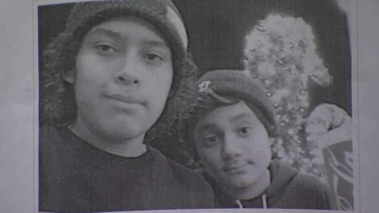 Christian Donis, 15, and Adam Donis, 13, were struck by a hit-and-run driver near Montrose and Alvarado streets in Echo Park Friday, June 12, 2015.