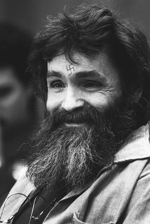 """<div class=""""meta image-caption""""><div class=""""origin-logo origin-image none""""><span>none</span></div><span class=""""caption-text"""">Convicted murderer Charles Manson smiles during his parole hearing on Feb. 4, 1986 in San Quentin, Calif. (AP Photo/Eric Risberg)</span></div>"""