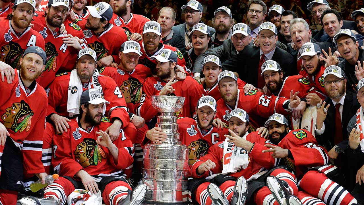 75efcab7 PHOTOS: 2015 NHL Stanley Cup Final: Chicago Blackhawks beat Tampa ...