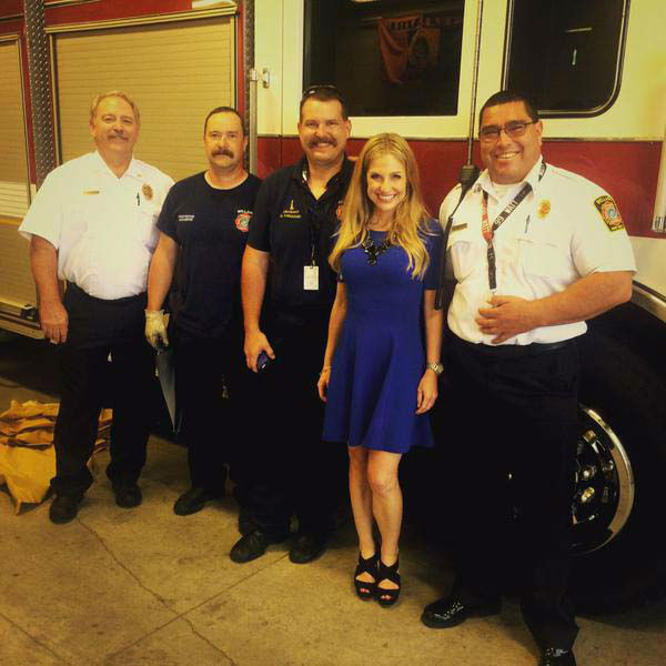 """<div class=""""meta image-caption""""><div class=""""origin-logo origin-image none""""><span>none</span></div><span class=""""caption-text"""">Katherine Whaley with Bellaire first responders getting ready for the storm (KTRK Photo)</span></div>"""