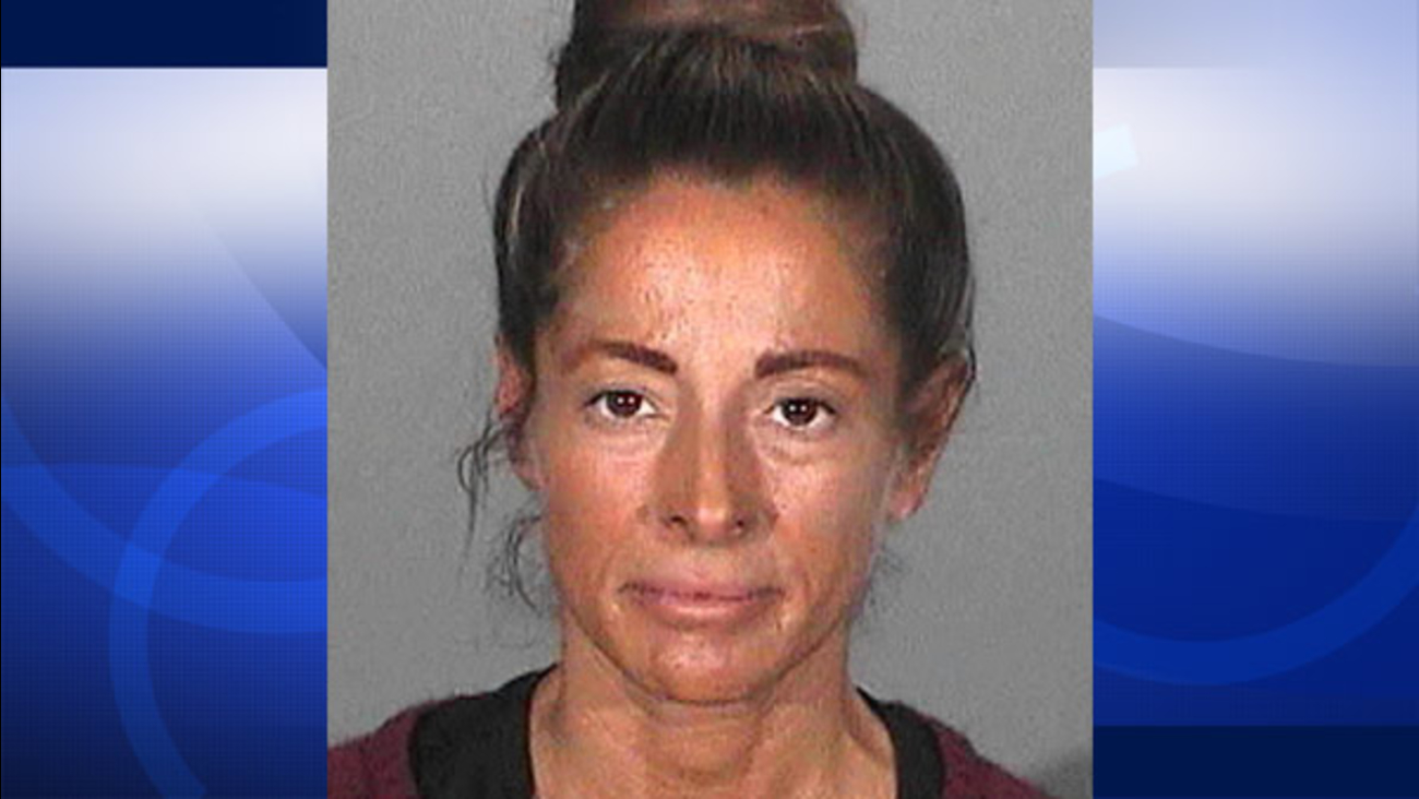 Sara Rizo is seen in this booking photo from the Santa Monica Police Department.