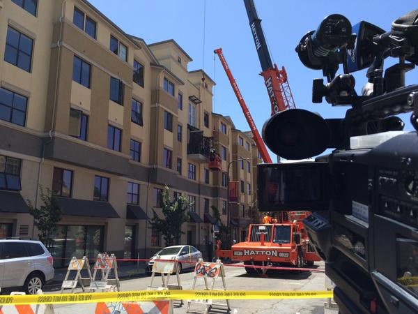 "<div class=""meta image-caption""><div class=""origin-logo origin-image none""><span>none</span></div><span class=""caption-text"">Roads were blocked off after a balcony collapsed in Berkeley, Calif. on Tuesday, June 16, 2015. (KGO-TV/Dean Smith)</span></div>"