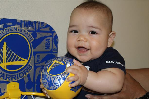 <div class='meta'><div class='origin-logo' data-origin='none'></div><span class='caption-text' data-credit='Photo submitted to KGO-TV by Meghan Gamboa/uReport'>Future Warriors player? Maybe, but tonight is all about a Game 6 win! Tag photos on Twitter, Instagram, Facebook or Google Plus using #DubsOn7.</span></div>